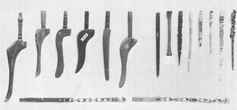 Welsh Knitting Sheaths, Mary Thomas's Knitting Book, Fig 12., by kind permission the National Museum of Wales