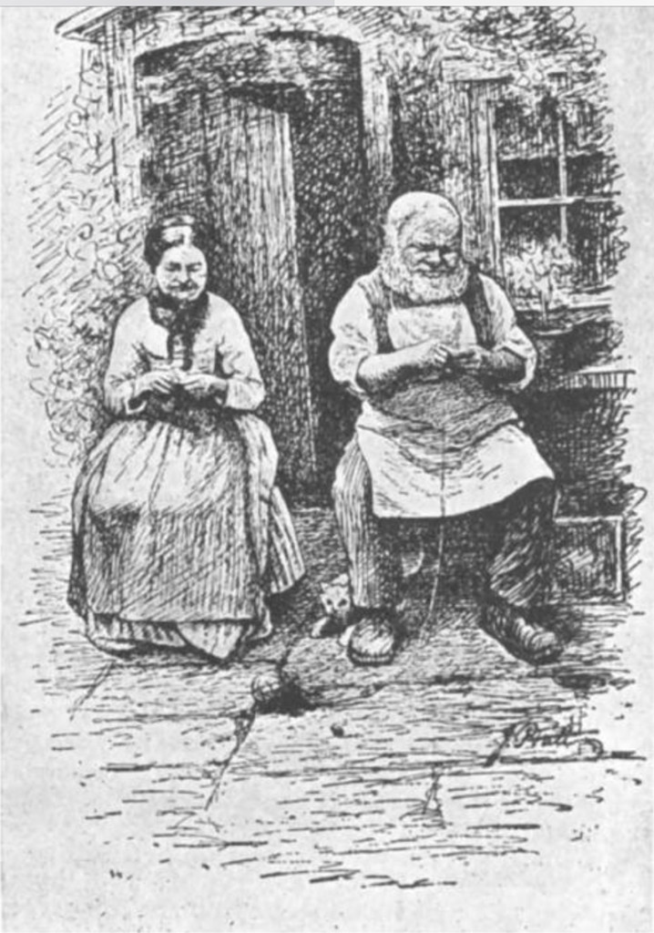 "The Knitters of Gayle, Mary Thomas's Knitting Book, Fig 5., from ""Richmondshire"", by Edmund Bogg"
