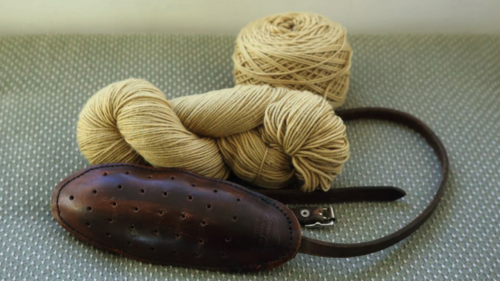 One of my traditional knitting belts from Shetland.